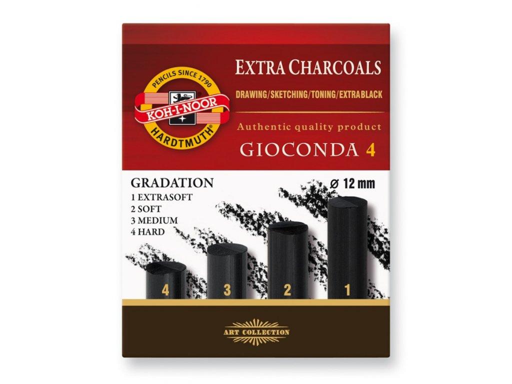 Koh-i-noor, súprava umelých gradačné uhlov GIOCONDA 8694, 4 ks (Varianta 4-hard)