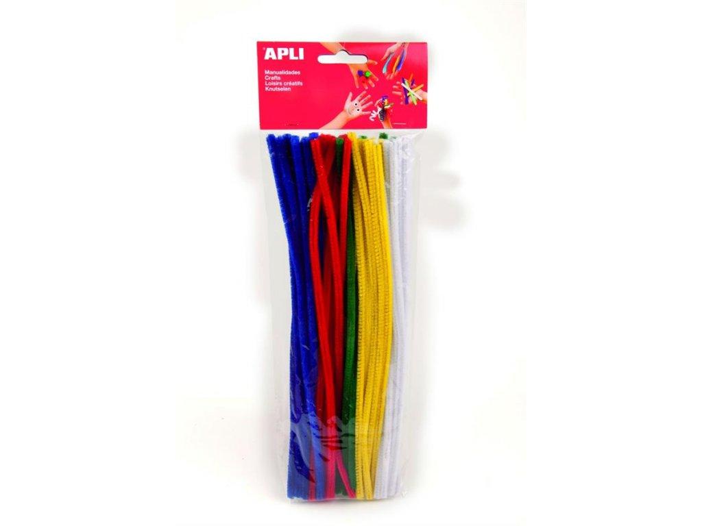 APLI, plyšový modelovacie drôt, 30cmx6mm, 50 ks