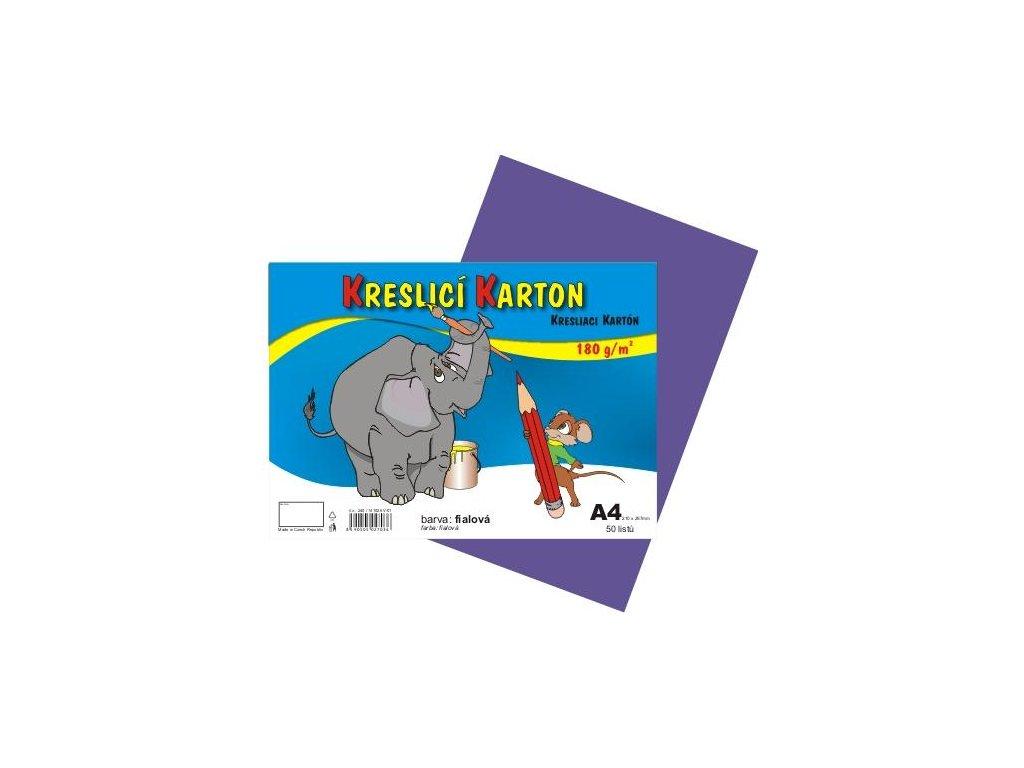 kresliace kartón A4, farebná štvrtka, 180g / m, 50 listov
