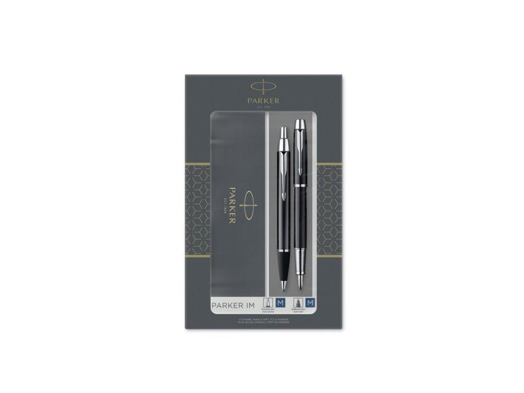 Parker IM BLACK CT - sada plniace pero a guličkové pero