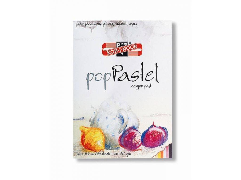 Koh-i-noor, skicovacie blok POP PASTEL, mix farieb, 20 listov 220g / m2 (Formát 610 x 420 mm)