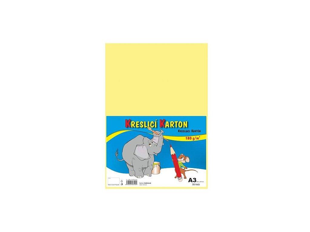 kresliace kartón A3, farebná štvrtka, 180g / m, 50 listov