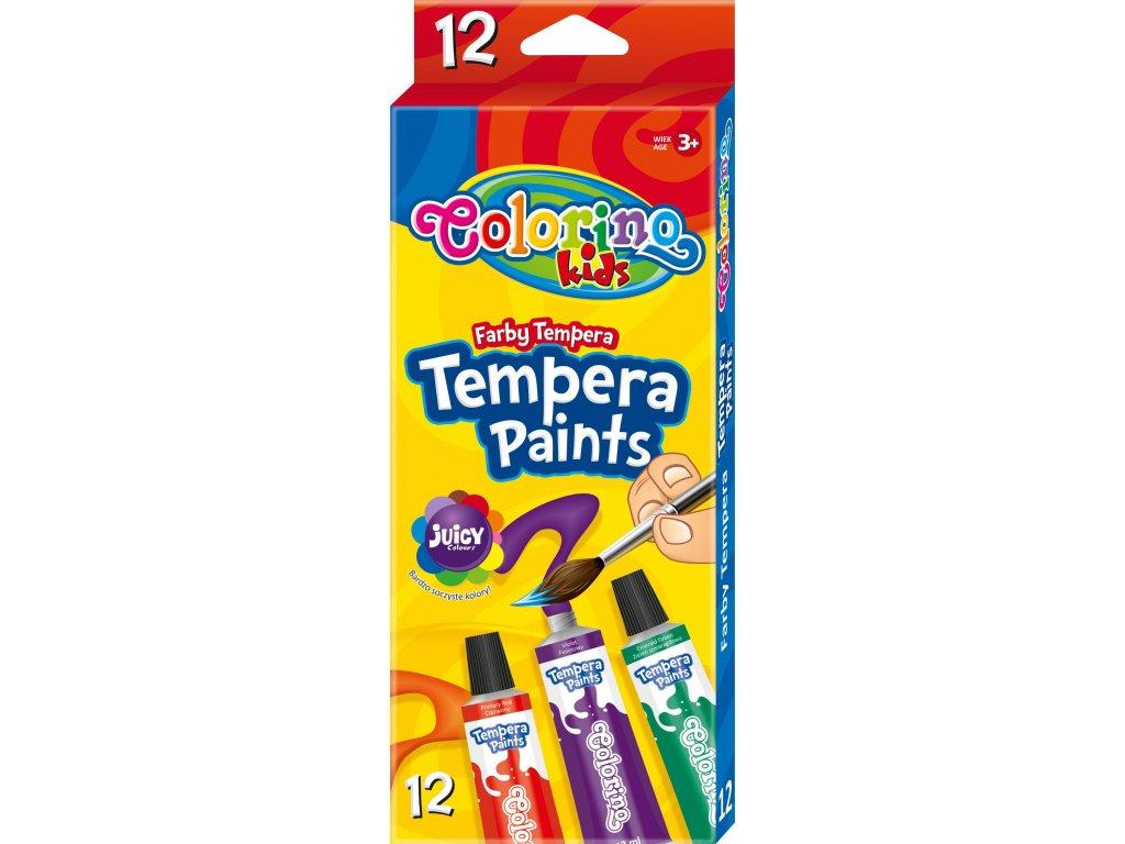 Colorino temperové farby, 12 farieb, 12 ml.