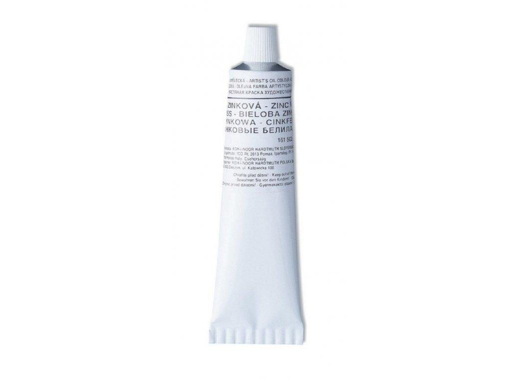 Koh-i-noor, umelecké olejová farba, bieloba, 40 ml. (Farba beloba titánová)