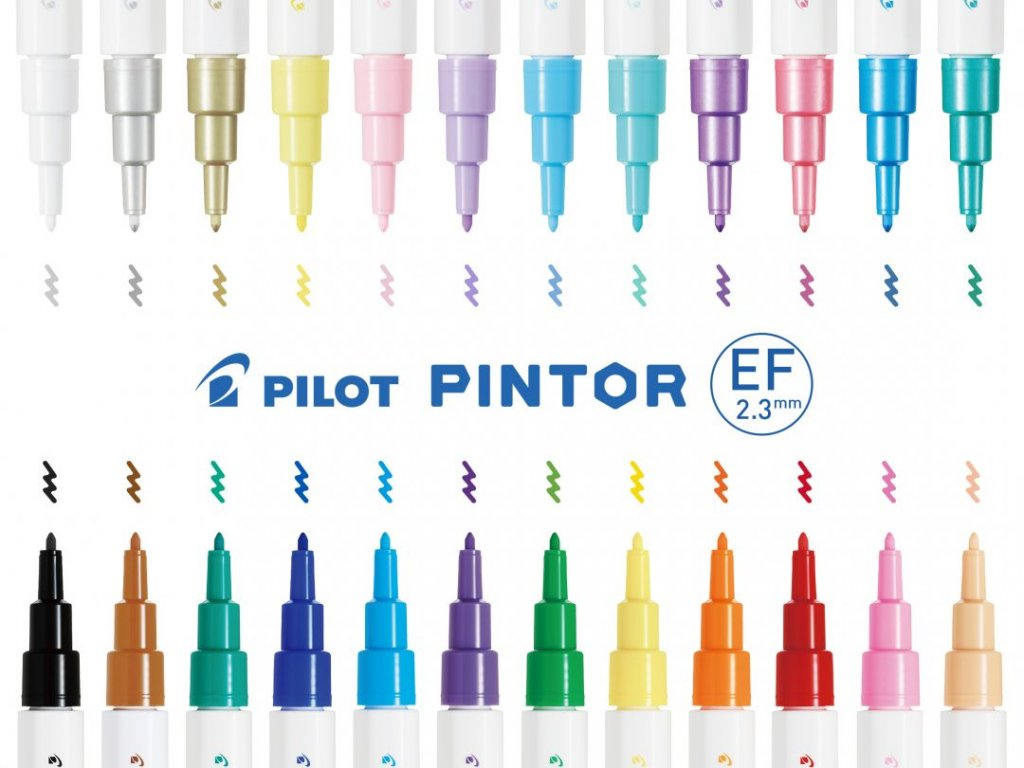 Akrylový popisovač Pilot Pintor EF 0,7 mm (Barva Strieborná)
