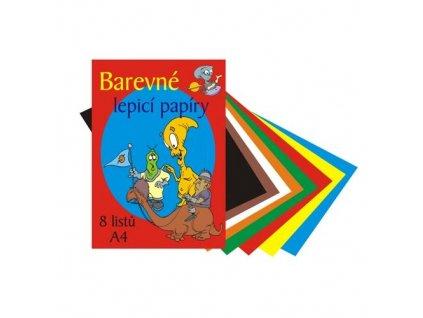 farebné lepiace papiere, 8 listov