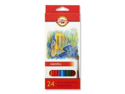 103746 koh i noor mondeluz skolske akvarelove pastelove ceruzky 3718 24 ks v sade
