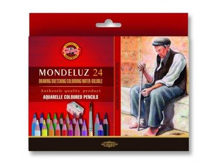 103752 koh i noor mondeluz umelecke akvarelove pastelove ceruzky 3711 24 ks v sade 2 x stetec a struhadlo