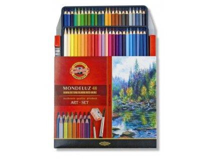 103758 koh i noor mondeluz akvarelove pastelky 3713 48 ks v sade 2 x stetec a struhadlo