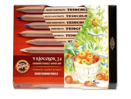 103767 koh i noor triocolor umelecke pastelove ceruzky 3154n 24 ks v sade