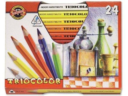 103773 koh i noor triocolor umelecke pastelove ceruzky 3154 24 ks v sade
