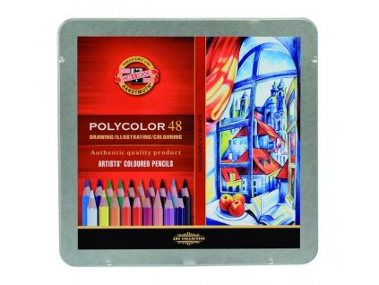 103803 koh i noor pastelove ceruzky polycolor 3826 48 ks v sade plechovej puzdro