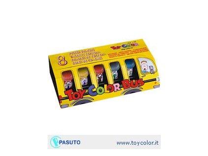 TOY COLOR, temperové farby, darčekový set 8x25 ml.