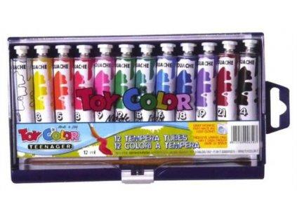 TOY COLOR, temperové farby, 12 farieb