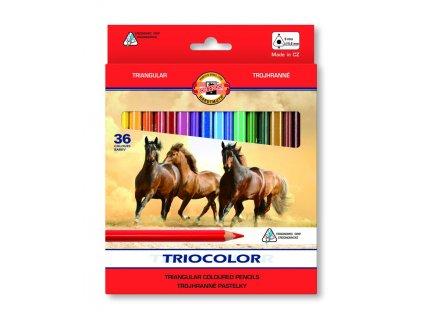 104598 koh i noor triocolor skolske trojhranne pastelky 3145 36 ks v sade