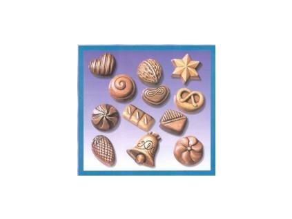 Forma na odliatky, vianoce, cukrovinky, 12 ks