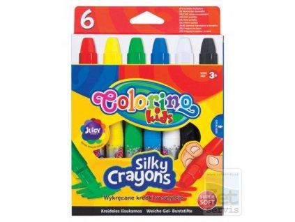 Colorino, voskovky Silky v ceruzke, 6 farieb