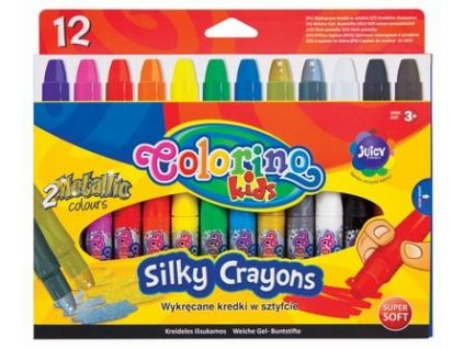 Colorino, voskovky Silky v ceruzke, 12 farieb