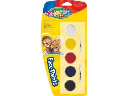 Colorino, farby na tvár, 5ks