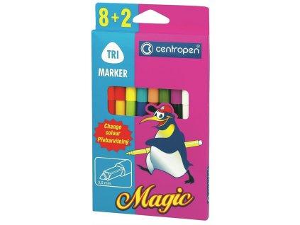 Centropen, sada popisovačov 2549/8 + 2 Magic - 8 farieb + 2 zmizík