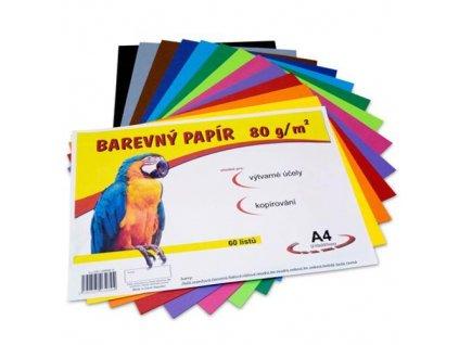 sada farebných papierov, vhodné pre kopírovanie a výtvarnú činnosť, 60 listov