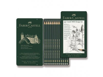 Faber-Castell, grafitová sada ceruziek Castell 9000, 12 ks, design set