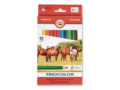 107361 koh i noor triocolor skolske trojhranne pastelky 3142 12 ks v sade