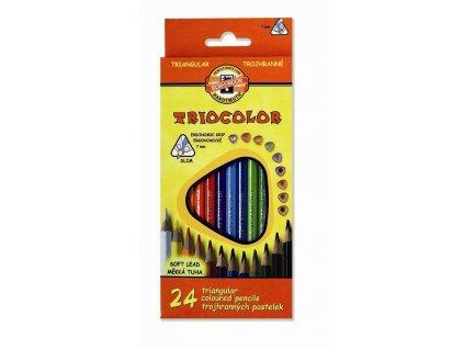 107370 koh i noor triocolor skolske trojhranne pastelky 3134 24 ks
