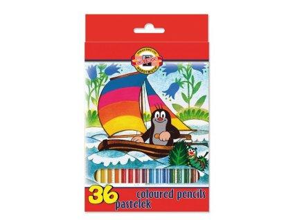 107385 koh i noor skolske pastelove ceruzky 3655 36 ks sada krtko