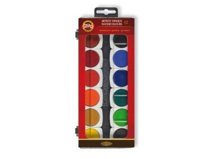 107391 koh i noor vodove farby umelecke krycie 175504 12 farieb