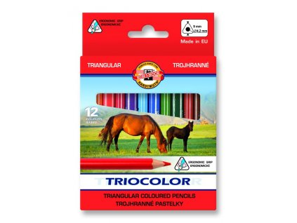 107610 koh i noor triocolor skolske trojhranne pastelky 3112 12 ks v sade kratkej