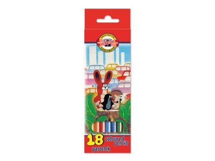 107775 koh i noor skolske pastelove ceruzky 3653 18 ks sada krtko