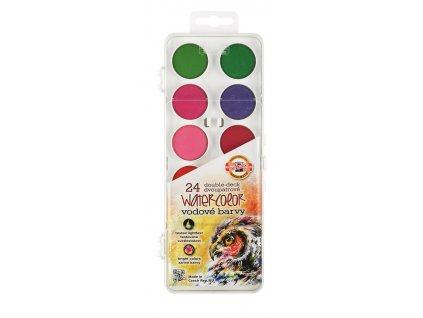 Koh-i-noor vodové farby 30 mm, dvojposchodové (Farba čierna)