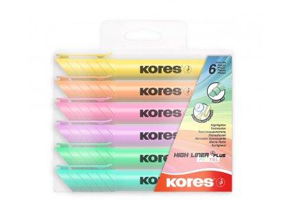 Kores, sada pastelových zvýrazňovačov Plus Pastel