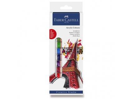 Sada akrylových farieb Faber-Castell, 12 farieb
