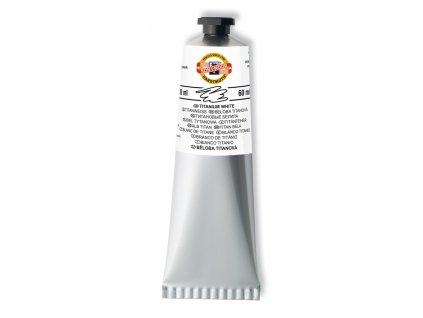 Koh-i-noor, umelecká olejová farba Mánes, 60 ml. (Farba čerň kostnej)