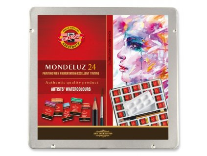 108216 koh i noor mondeluz suprava umeleckych akvarelovych farieb v plechovej krabicke