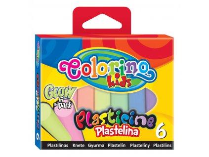 Colorino modelovacia hmota - svietiace v tme, 6 farieb