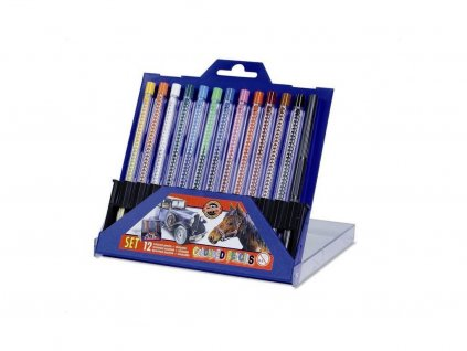Koh-i-noor, súprava mechanických pastelových ceruziek Scala 4012