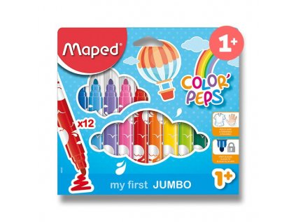 Maped, detské fixky Maped Color'Peps Jumbo, 12 farieb