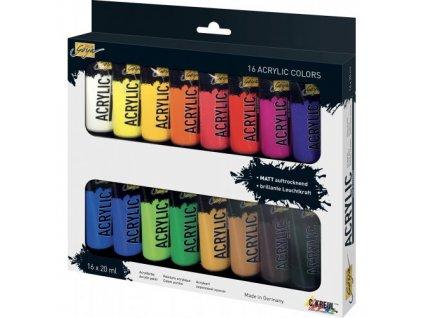 Sada Akrylová farba SOLO GOYA 20 ml v tube 16 farieb