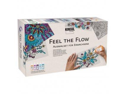 """Sada farby na sklo pre dospelých - antistresové ,, Feel the flow """""""