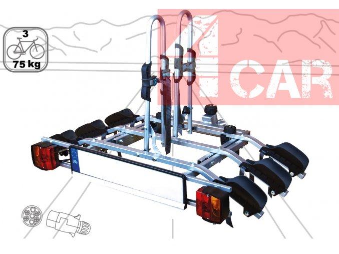 Nosič kol na tažné zařízení pro 3 kola/elektrokola ATOM T3