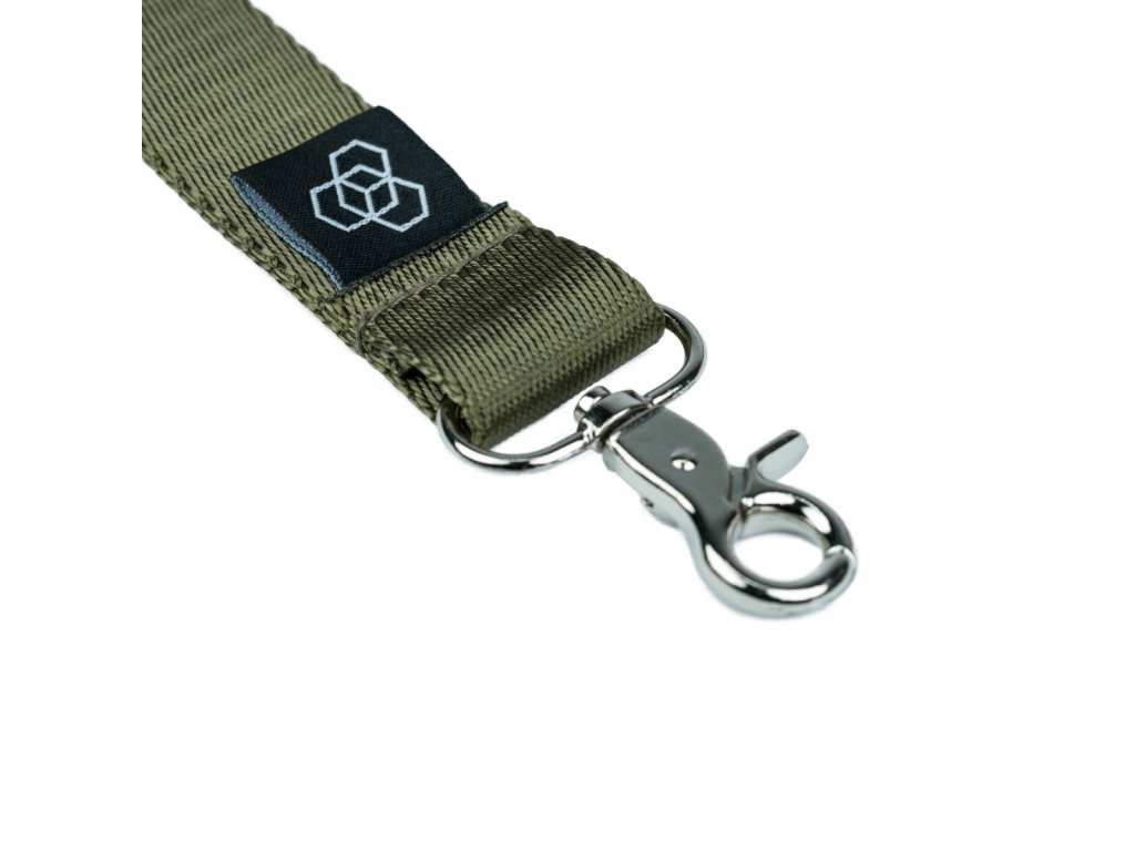 Carbon Collective Woven Lanyard Green