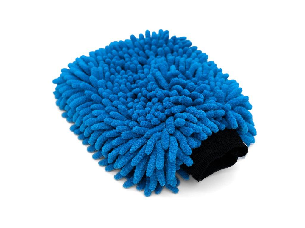 The Collection Chenille Wash Mitt Petrol Blue mycí rukavice