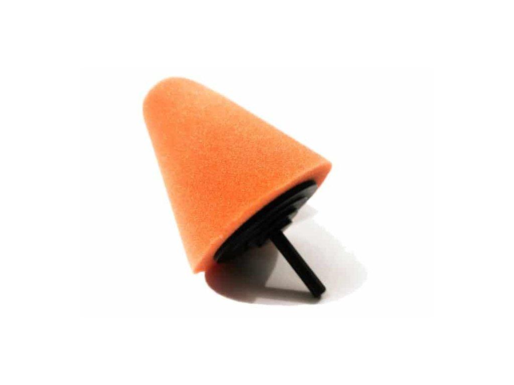 Sleeker stozek polerski 80mm pomaranczowy srednio twardy do polerowania trudnych miejsc