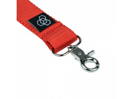 Carbon Collective Woven Lanyard Red