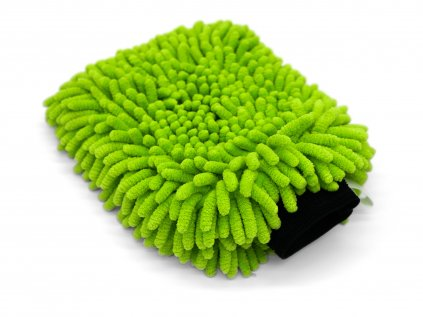 The Collection Chenille Wash Mitt Lime Green mycí rukavice