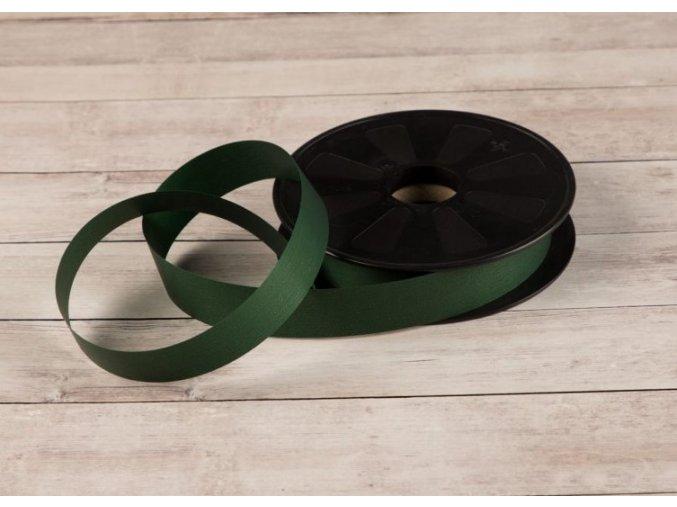 Plastová stuha - tmavě zelená - matná