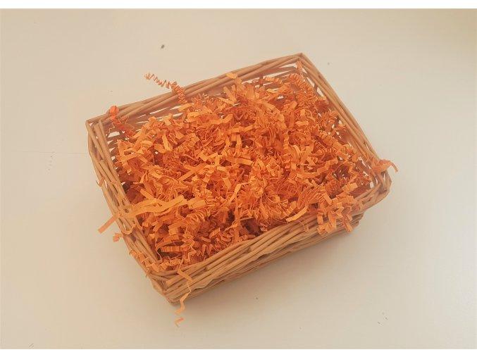 Papírová výplň do krabice a košíků - sv.oranžová